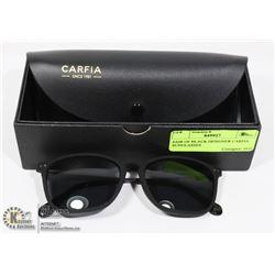 PAIR OF BLACK DESIGNER CARFIA SUNGLASSES