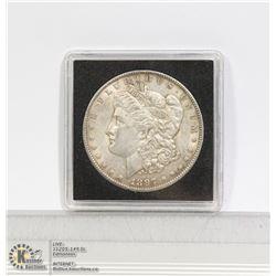 1897 USA SILVER MORGAN DOLLAR COIN NICE COND.