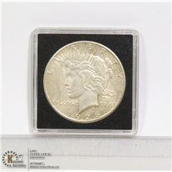 1926S USA SILVER PEACE DOLLAR COIN EXCELLENT COND.