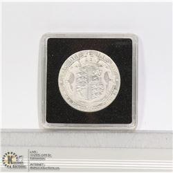 1907 EDWARDIAN SILVER HALF CROWN COIN