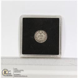 1910 EDWARDIAN CANADIAN SILVER 5 CENT COIN
