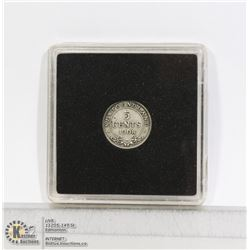 1908 NEWFOUNDLAND SILVER 5 CENT COIN
