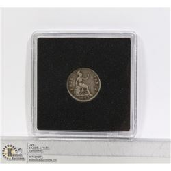 GREAT BRITAIN VICTORIAN SILVER 4 PENCE COIN 1843