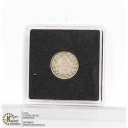 1907 EDWARDIAN CANADIAN SILVER 10 CENT