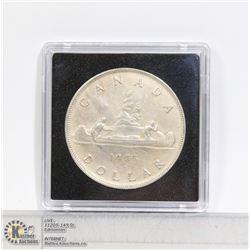 KEY DATE 1945 CANADA SILVER DOLLAR COIN RARE