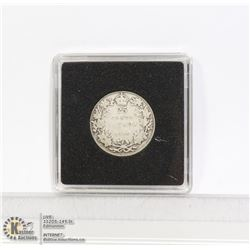 1919 GEORGE V CANADA SILVER 25 CENT COIN