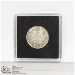 1936 KING GEORGE V CANADA SILVER 25 CENT COIN