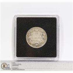 1902H EDWARDIAN CANADA SILVER 25 CENT COIN