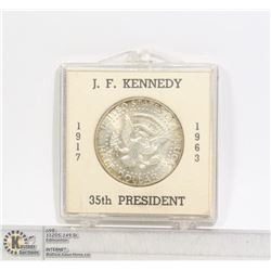 1964 JOHN F. KENNEDY SOLID SILVER 50 CENT COMEMM.