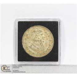 1958 VINTAGE MEXICO SILVER PESO COIN