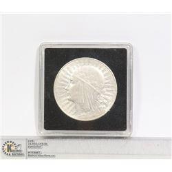 1932 POLAND 10 ZLOTY LARGE SILVER COIN HIGH GRADE
