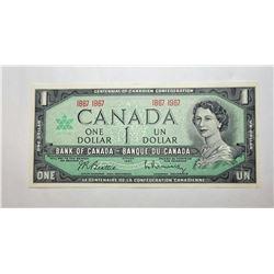 2)  CANADIAN 1867-1967 CENTENNIAL $1.00