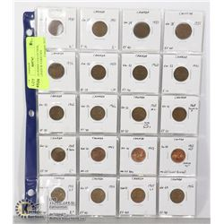 CANADA PENNY COLLECTION, CATALOGED W VARIETIES