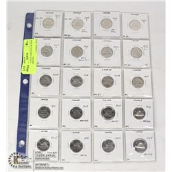 CANADA 5 CENT COIN COLLECTION WITH VARIETIES