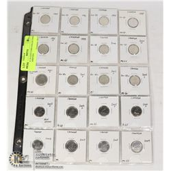 CANADA 10 CENT COIN COLLECTION WITH VARIETIES