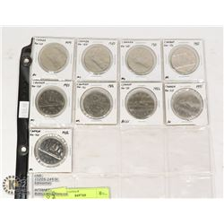 CANADA $1 COIN COLLECTION WITH VARIETIES