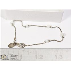 CLAIRES BRAND SILVER TONE BEAD BRACELET