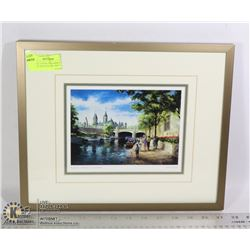 """""""RIDEAU CANAL IN SUMMER"""" DOUBLE MATTED ART PRINT"""