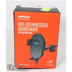 MPOW AUTO LOCK WIRELESS CAR CHARGER MOUNT
