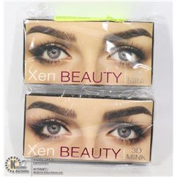 TWO PACK OF XEN BEAUTY 3DMINK EYELASHES