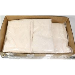LOT OF 4 SOFT BEIGE SHIER CURTAIN PANELS -