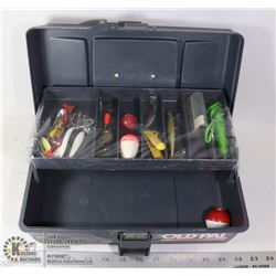 OLD PALL BY WOODSTREAM TACKLE BOX WITH TACKLE