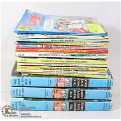 BUNDLE OF COLLECTIBLE BOOKS, ARCHIE COMICS AND HAR
