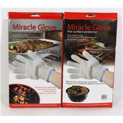 LOT OF TWO NEW MIRACLE GLOVE HOT SURFACE