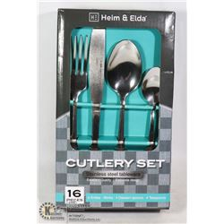 NEW 16PC STAINLESS STEEL CUTLERY SET