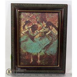 """DANCERS IN BLUE"" EDGAR DEGAS 1834-1917"