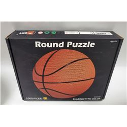 1000 PIECE ROUND PUZZLE BASKETBALL  BLAZING WITH