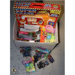 LARGE BOX OF DOLLAR STORE TOYS
