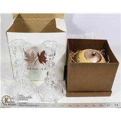 HOME & GIFT PILLAR CANDLE HOLDER & CANDLE- NEW IN