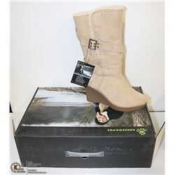 """DAWGS WOMENS FASHION 15"""" WEDGE BOOTS NATURAL"""