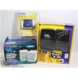 SEALED ITEMS FELLOWES PDA TYPE N' GO