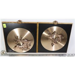 PAIR OF VINTAGE COPPERCRAFT WALL DISPLAYS GEESE