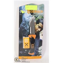 BEAR GRYLLS GERBER SURVIVAL FOLDING KNIFE W/SHEATH