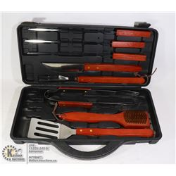 NEW 8PC BBQ UTENSIL SET IN HARD CASE