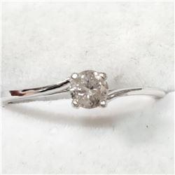 10K WHITE GOLD DIAMOND(0.3CT,I,G-H) RING