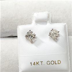 14K WHITE GOLD DIAMOND(0.8CT,I1-I2,G-H)