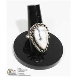 #70-DENDRITIC OPAL RING/ SIZE 7.5