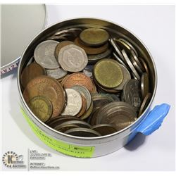 INTERNATIONAL COIN- ASSORTED FULL TIN