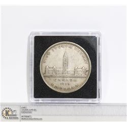 1939 CANADA SILVER PARLIAMENT DOLLAR COIN