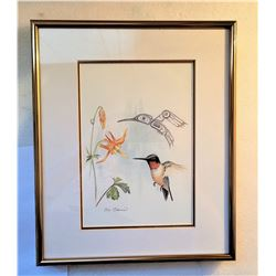 24)  FRAMED AND DOUBLE MATTED UNDER GLASS