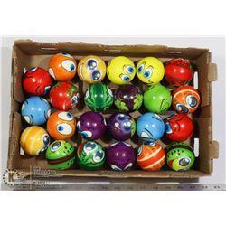 FLAT OF ASSORTED BALLS