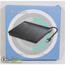 RIODDAS EXTERNAL CD/DVD DRIVE