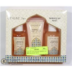 NEW 3PC OPALINE SPA MOROCCAN MIST BATH SET WITH
