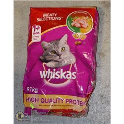 BAG OF WHISKAS CAT FOOD 9.1KG