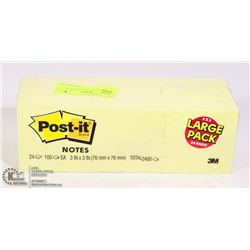 LARGE 3 X 3 24 PACK OF POST IT NOTES