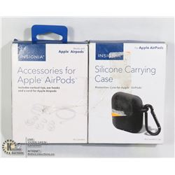 SET OF ACCESSORIES FOR AIRPODS & SILICONE CASE